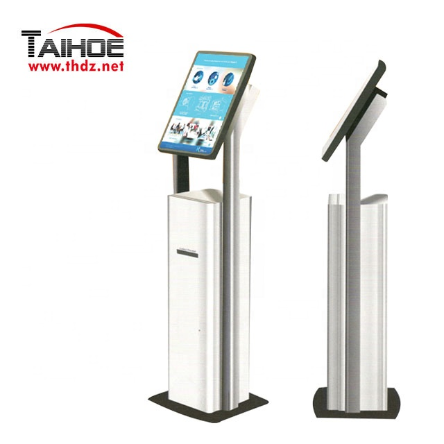 User friendly self service visitor management interactive kiosk with receipt printer