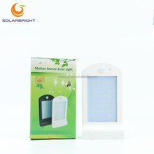 IP65 waterproof 3.7V lithium battery powered 40pcs LED solar led wall lamp 18650 battery solar motion sensor led light