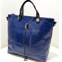 Wholesale Lady fashion pu leather plain bulk tote handbag , handbag manufacturers china