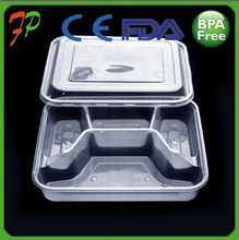 Wholesale 4 Compartment Microwave PP Bento Box,High Quality Plastic Prep Meal Resuable Food Containers 4 Compartment Factory