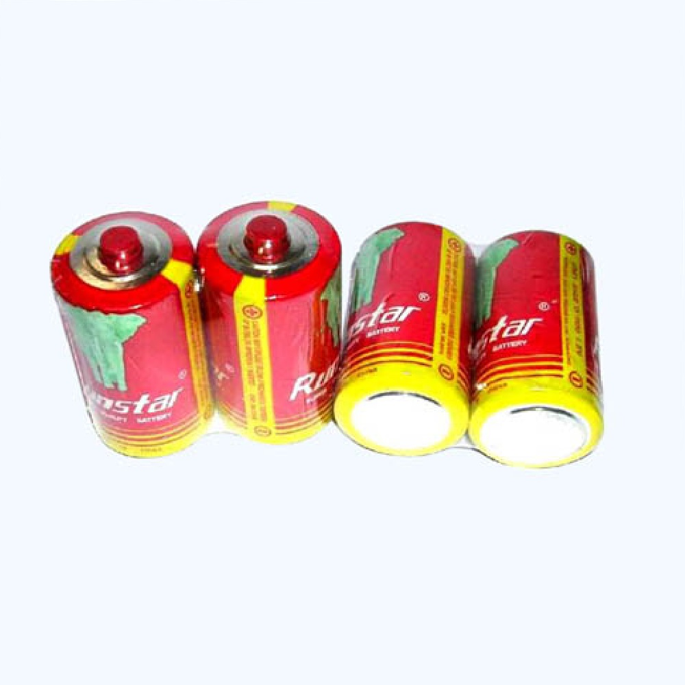 R20 SIZE D UM-1 PVC Jacket 1.5V Dry Battery RUNSTAR RED