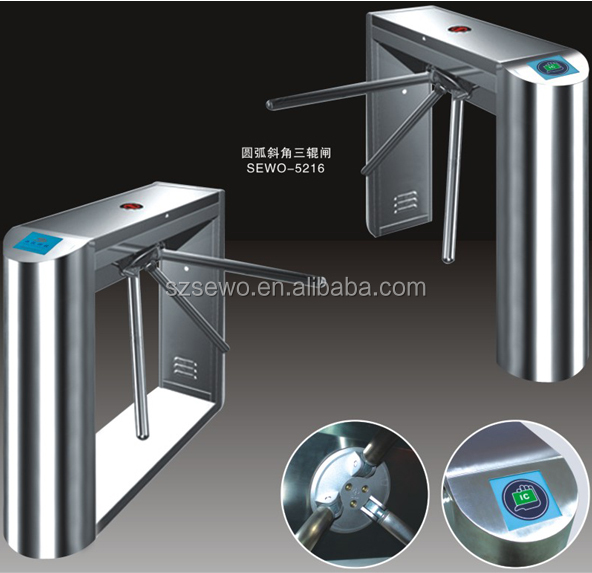 Shenzhen Semi-automatic Stainless steel Automatic Gate Turnstile RFID System