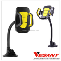 Vesany professional design long neck soft pipe universal gooseneck car mount cell phone holder