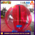 2017 red colour inflatable floating water ball walking