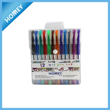 12pcs PVC pack gel pen set