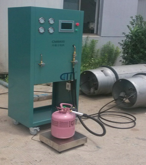 R22/R410A/R134A CM8800 refrigerant recovery/charge/vacuum unit without loss during refrigerant charging process