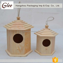 Custom small house shaped decorative wooden bird houses