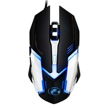 Top sales iMICE V6 LED Colorful Light USB 6 Buttons 3200 DPI Wired Optical Gaming Mouse for Computer PC Laptop