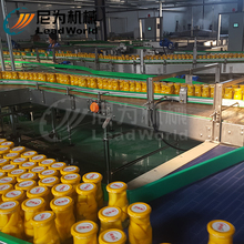Tinned canned fruit production process line