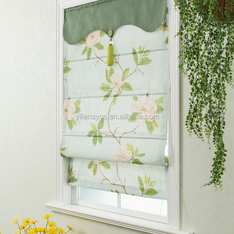 New design luxury european style window roman blinds parts curtains for the living room