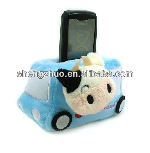 Plush Car Toy Desk Cell Phone Holder
