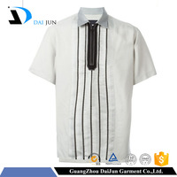 Daijun oem 100% cotton new desigh white ziped men school uniform polo shirts