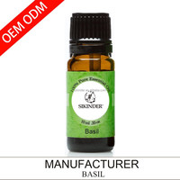 OEM/ODM basil essential oil, 100% pure and natural 10ML suppy private label