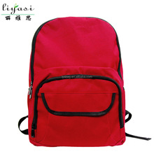 cheap promotional teenage fashion red oxford school bag with shoulder strap and back for wholesale