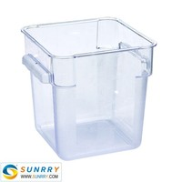 2015 hot sale 4QT disposable plastic food container made of PC
