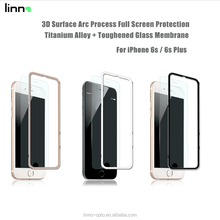 CHINA factory 3D Curved 9H Color Aluminium Titanium alloy tempered glass screen saver for iPhone 6 glass screen protector