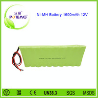 rechargeable nimh battery pack aa 12v 1600mah