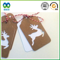 High quality die out gift hang tag in deer shape for Christmas