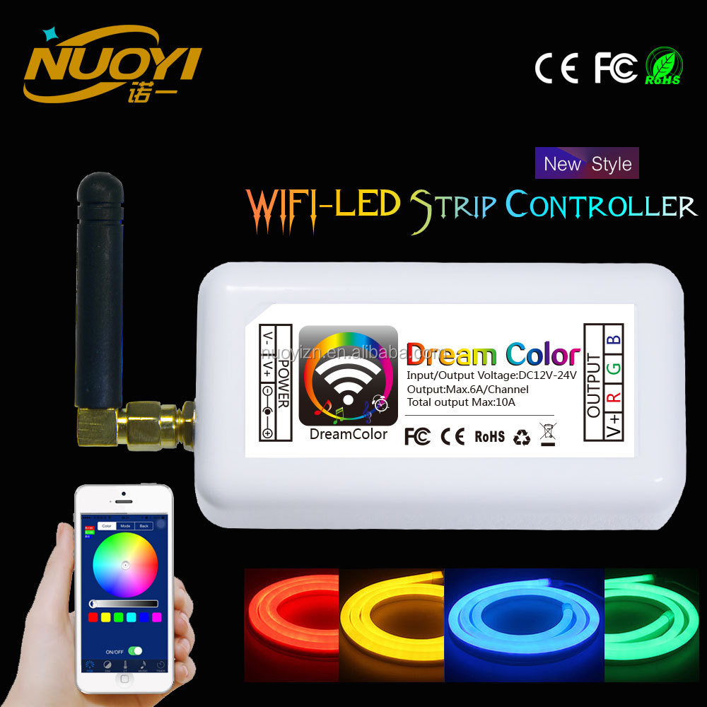 Plastic shell RGB WIFI group LED controller with 3 channels for LED strips
