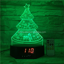 3D LED Table Lamp Decorative light Christmas tree shape Holiday gifts night light