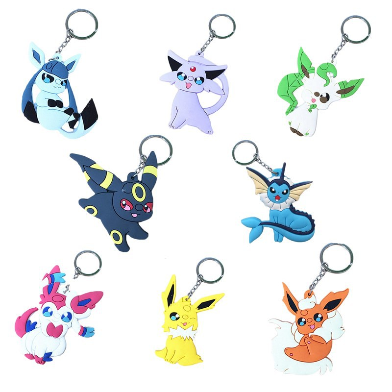 Factory price Customed pvc rubber pokemon keychain