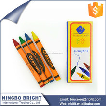 Custom color high quality Non-toxic Wax Crayon for kids
