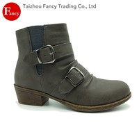 China Factory Custom Wholesale Fashion Leather Boots Motorcycle