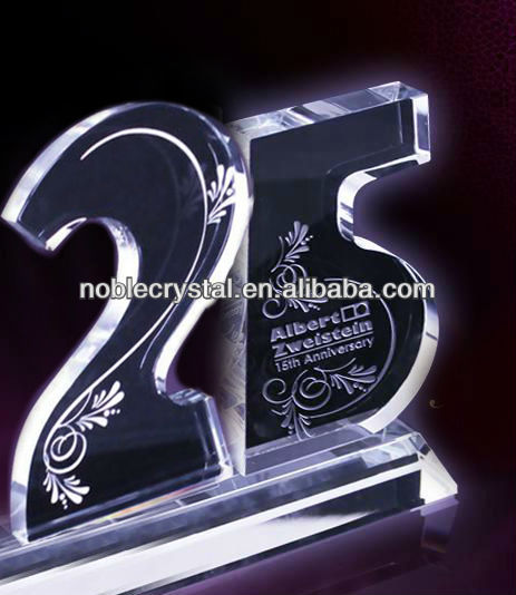 Noble 25th Anniversary Crystal Award Trophy Souvenir Anniversary Gifts