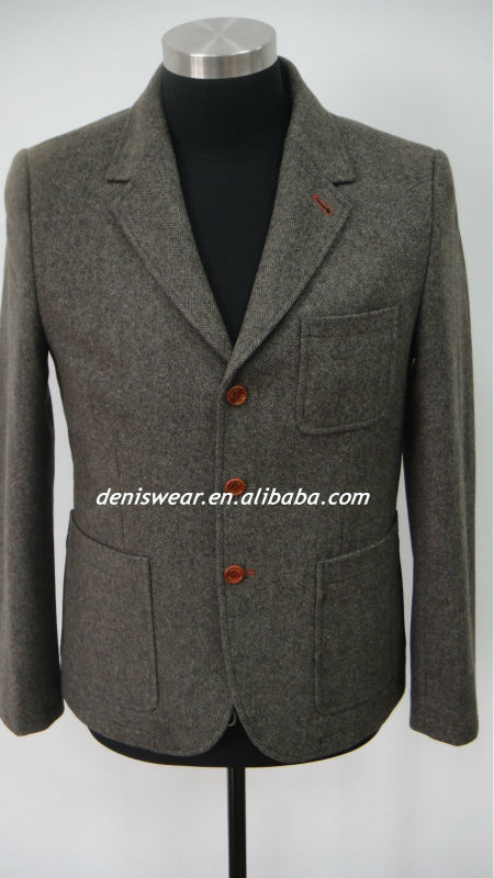 mens casual wool suit