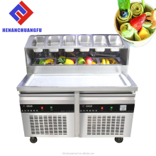 2017 Chuangfu R410 thailand fry ice cream roll machine