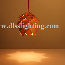 modern wooden handmade hanging lamps for restaurant decoration
