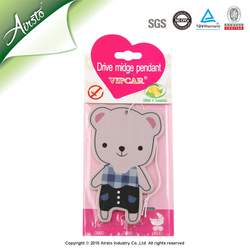 Cute Custom Paper Hanging Air Freshener Car