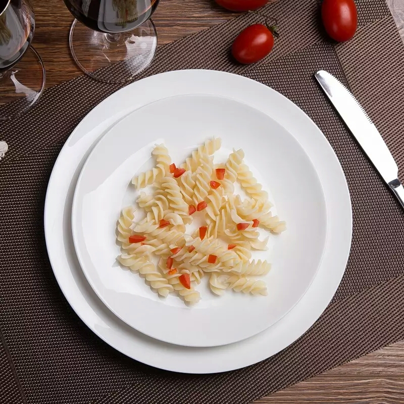 Pure White Custom Design High Quality Ceramic Dinner Plate/Tableware