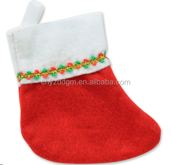 wholesale mini christmas stockings plush felt mini stockings