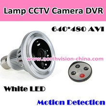 720P HD Bulb Camera with with Remote Controller Motion Detection IR lights