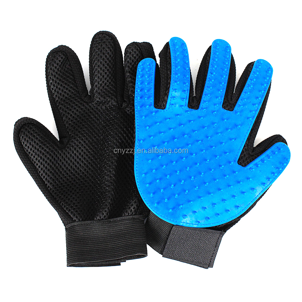 Five Fingers Gloves Silicone Remover Massage Hair Cat Dog Pet grooming Brush for Cleaning A Magic Glove