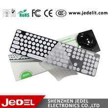 Wireless Keyboard mouse Desktop combos White color with USB port