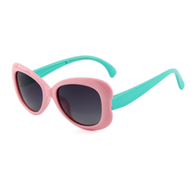 So cute kids glasses pink blue cilicone frame lovely baby high quality soft child sunglasses