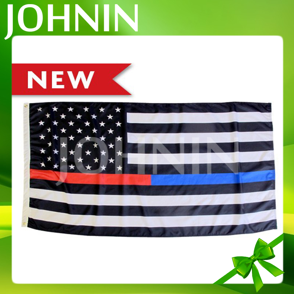 Hot sale 3*5ft polyester printed custom american USA flag thin blue red line
