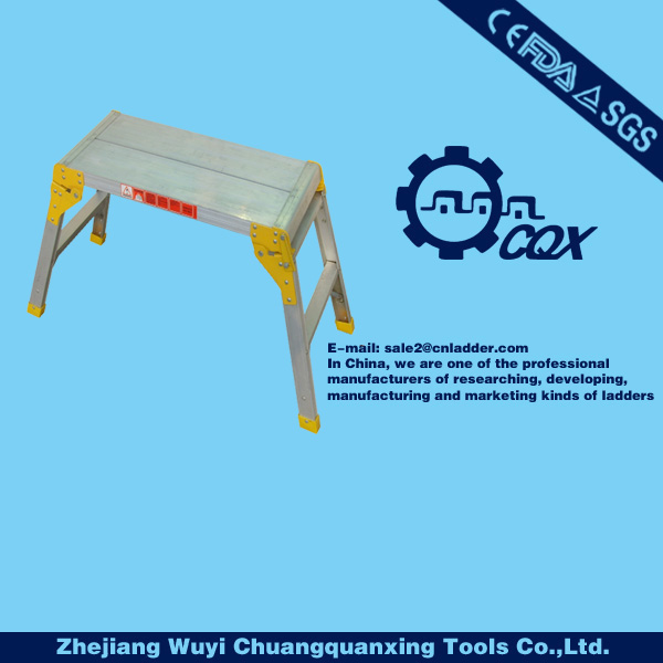 Quality Small Two Step Aluminium Folding Step Up Hop Up Work Platform Work