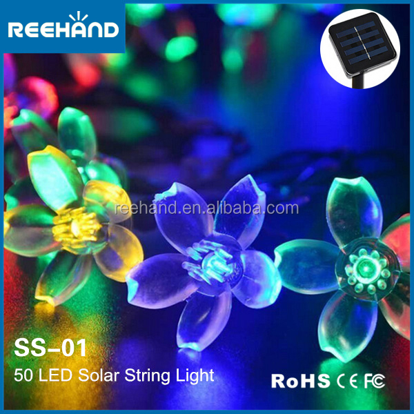 free shipping 50 led flower string lights rechargeable