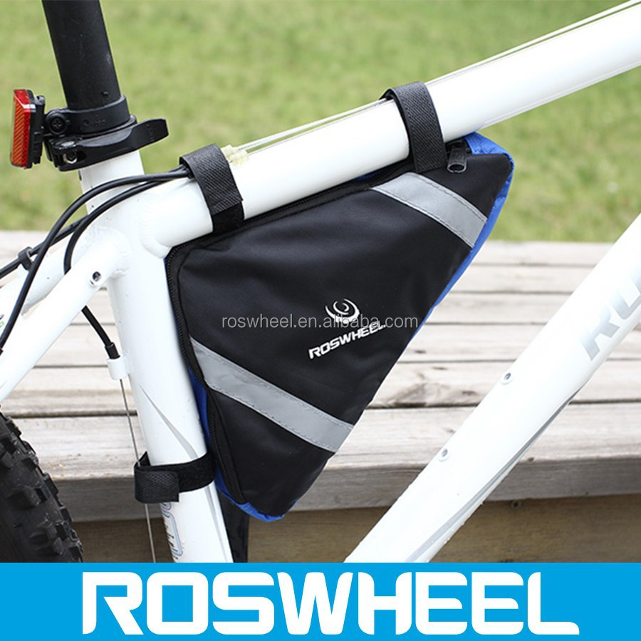 Wholesale hot sale separate compartment triangle bicycle frame bag12490 activated carbon bag