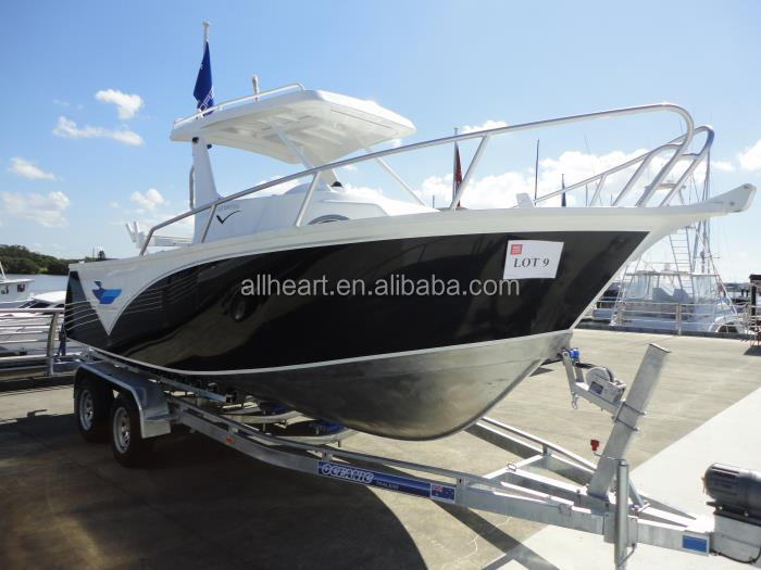 Aluminum cabin boat with outboard engine for sale for Aluminum boat with cabin for sale