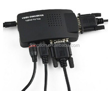 For CCTV DVD DVR TV RCA AV BNC S-Video Composite Video input to VGA Monitor PC Converter Adapter