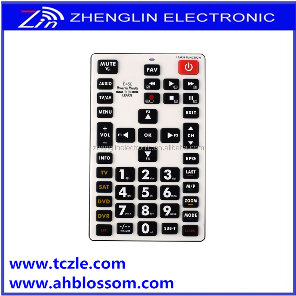 E450 4 in 1 TV/SAT/DVD/DVR universal remote control with learning function
