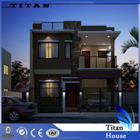 Two Storey Fabricated Building House Plans with Floor Plan
