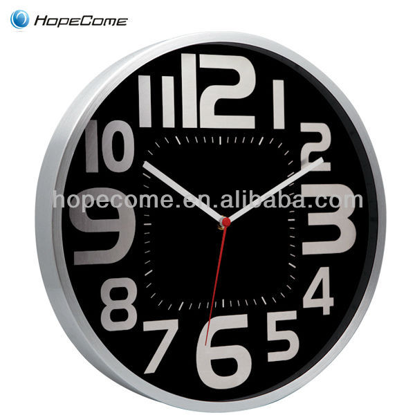 Electronic Digital Metal Mechanism Wall Clock For Sale