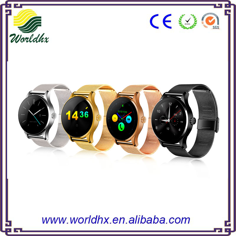 Professional Heart Rate Monitor Waterproof K88H Smart Watch Phone With SIM Slot High Resolution