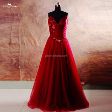 RSE743 Burgundy Prom Dresses 2016 Long Evening With Pocket