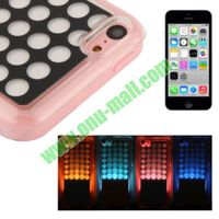 Dot Pattern Plastic LED Case for iPhone 5C with Call Reminding Function